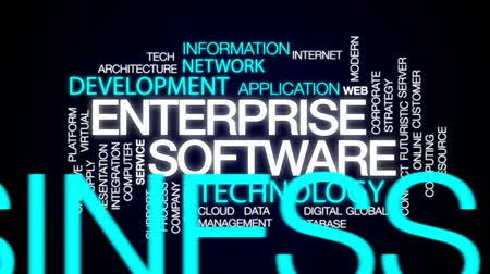 ellát : Enterprise software animated word cloud, text design animation.
