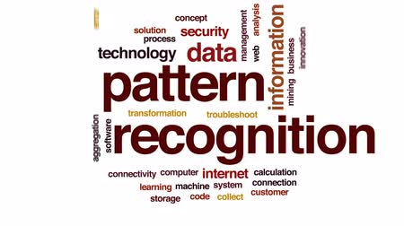 uznání : Pattern recognition animated word cloud, text design animation. Dostupné videozáznamy