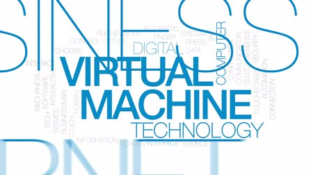 sensível : Virtual machine animated word cloud, text design animation. Kinetic typography.