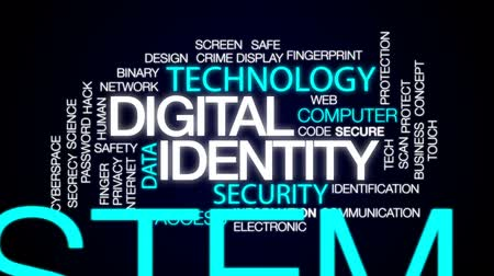 sigilo : Digital identity animated word cloud, text design animation.