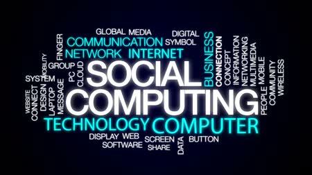 sistemas : Social computing animated word cloud, text design animation.