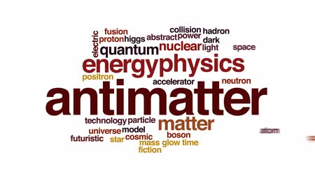 fraktální : Antimatter animated word cloud, text design animation.