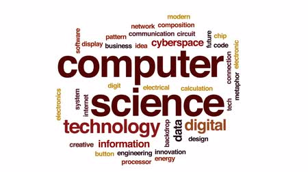 kodeks : Computer science animated word cloud, text design animation.