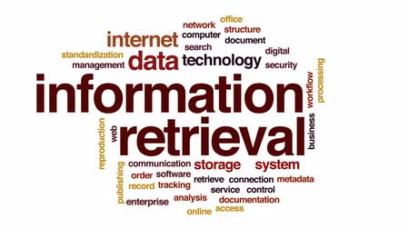 standardization : Information retrieval animated word cloud, text design animation.