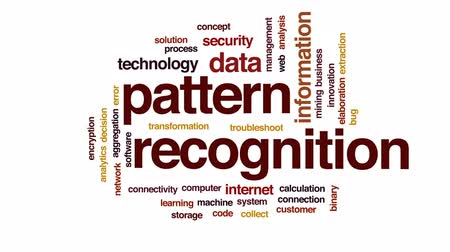 kidolgozása : Pattern recognition animated word cloud, text design animation. Stock mozgókép