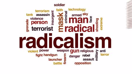 insurgent : Radicalism animated word cloud, text design animation.