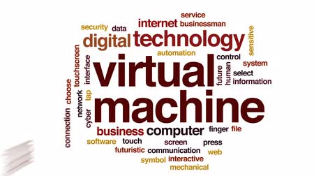 sensível : Virtual machine animated word cloud, text design animation.