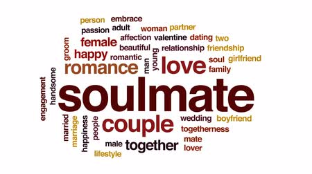 duše : Soulmate animated word cloud, text design animation. Dostupné videozáznamy