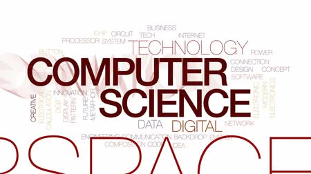 calcular : Computer science animated word cloud, text design animation. Kinetic typography. Vídeos