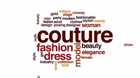 finale : Couture animated word cloud, text design animation. Stock Footage