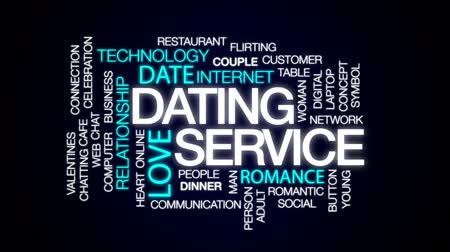 慶典 : Dating service animated word cloud, text design animation. 影像素材