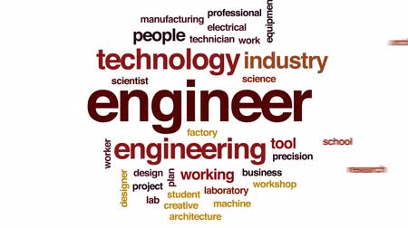 şifreleme : Engineer animated word cloud, text design animation.
