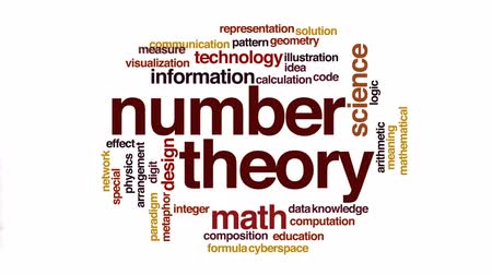 aritmética : Number theory animated word cloud, text design animation.