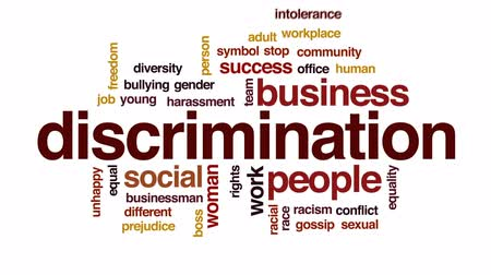 сплетни : Discrimination animated word cloud, text design animation.