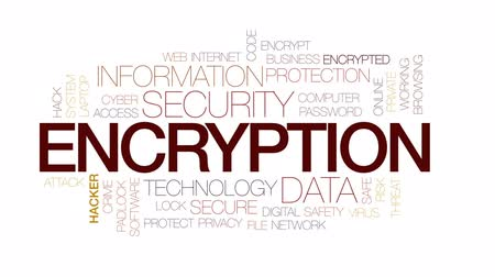 senha : Encryption animated word cloud, text design animation. Kinetic typography.
