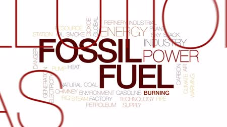 pompki : Fossil fuel animated word cloud, text design animation. Kinetic typography. Wideo