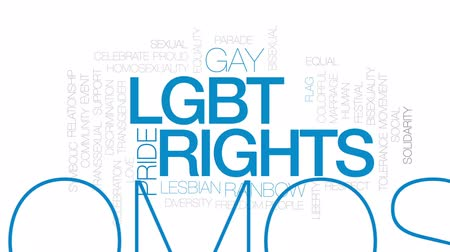saygı : LGBT rights animated word cloud, text design animation. Kinetic typography.