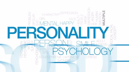bipolar disorder : Personality animated word cloud, text design animation. Kinetic typography. Stock Footage