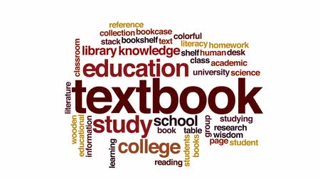 alfabetização : Textbook animated word cloud, text design animation.