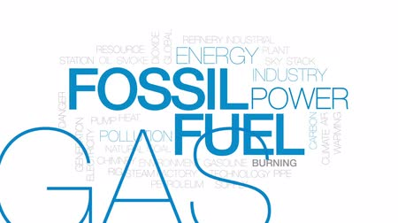 air pump : Fossil fuel animated word cloud, text design animation. Kinetic typography. Stock Footage