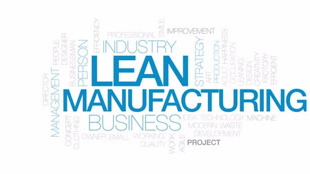 çevik : Lean manufacturing word cloud, text design animation. Kinetic typography.