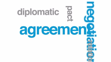 compromise : Peace talks animated word cloud, text design animation. Stock Footage