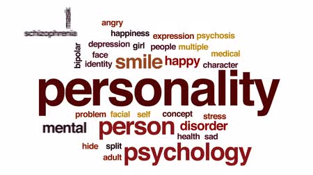 bipolar disorder : Personality animated word cloud, text design animation.