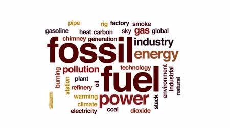 air pump : Fossil fuel animated word cloud, text design animation.