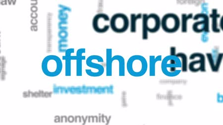 áttekinthetőség : Corporate haven animated word cloud, text design animation. Stock mozgókép