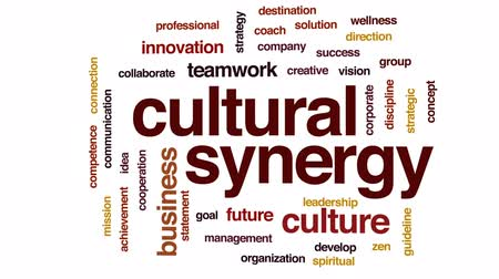fegyelem : Cultural synergy animated word cloud, text design animation.