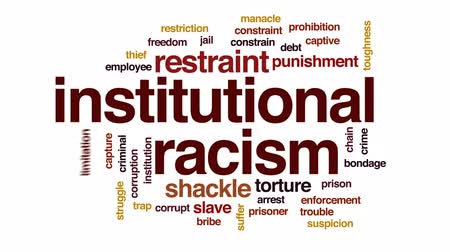 slave : Institutional racism animated word cloud, text design animation.