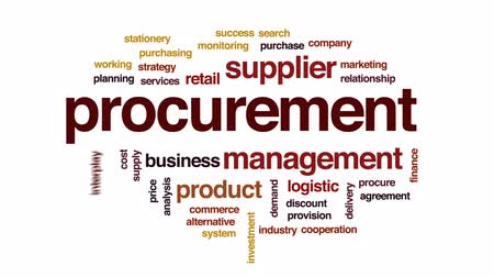 demanda : Procurement animated word cloud, text design animation. Stock Footage