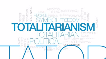 totalitarianism : Totalitarianism animated word cloud, text design animation. Kinetic typography.