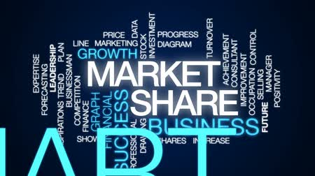 részvények : Market source animated word cloud, text design animation. Stock mozgókép