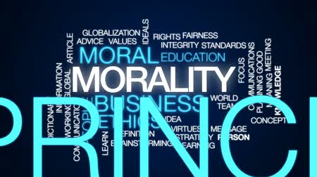 anlamı : Morality animated word cloud, text design animation.