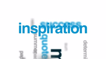 inspire : Motivation animated word cloud, text design animation. Stock Footage