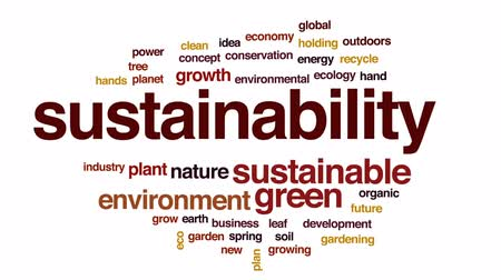 desenvolvimento : Sustainability animated word cloud, text design animation.