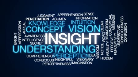 consciousness : Insight animated word cloud, text design animation. Stock Footage