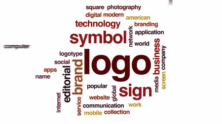 logotype : Logo animated word cloud, text design animation.