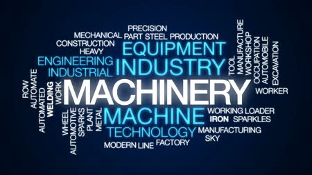 soldagem : Machinery animated word cloud, text design animation.