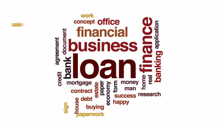 anlaşma : Loan animated word cloud, text design animation.
