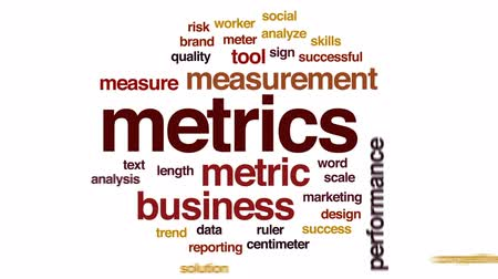 преуспевать : Metrics animated word cloud, text design animation.