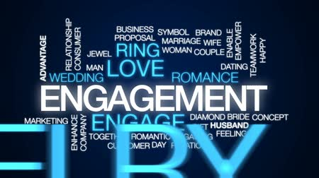 vantagem : Engagement animated word cloud, text design animation.
