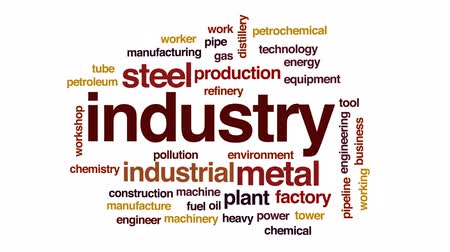 csővezeték : Industry animated word cloud, text design animation.