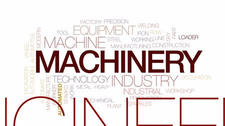 soldagem : Machinery animated word cloud, text design animation. Kinetic typography.