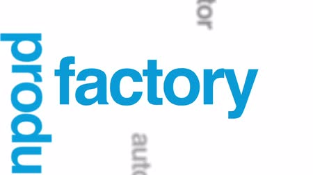 soldagem : Assembly line animated word cloud, text design animation.