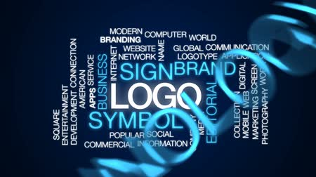 markalaşma : Logo animated word cloud, text design animation.