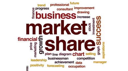 żródło : Market source animated word cloud, text design animation. Wideo