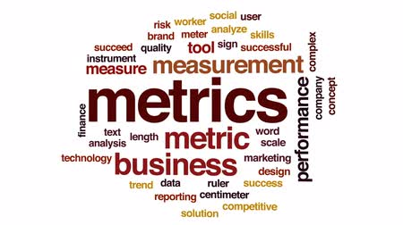 centímetro : Metrics animated word cloud, text design animation.