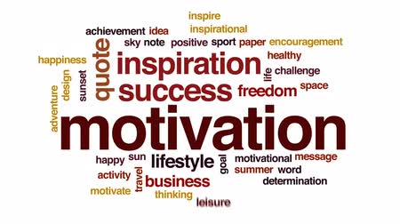 lifestyle : Motivation animated word cloud, text design animation. Wideo